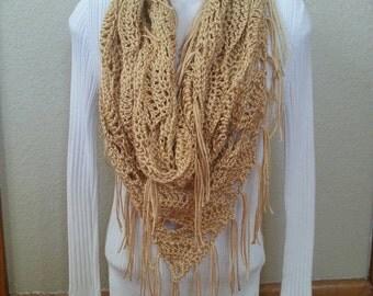 Crochet Trianlge Cowl