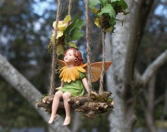 Fairy Swing by Olive* ~ Flora Swing (Swing Only See Other Listing for Swing and Fairy*) Handcrafted Fairy Accessories, Faeries