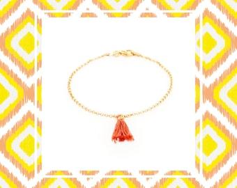 Colored tassel bracelet