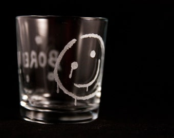 Bespoke Sherlock Glass Tumbler, Engraved by Hand.