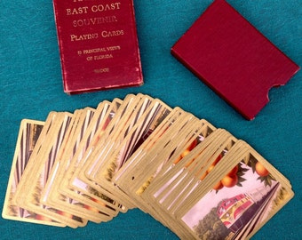 Florida East Coast Souvenir Playing Cards, Bridge, probably 1940s PRICE REDUCED!!