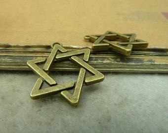 10pcs 17x20mm Hexagram Pendants Pentagram Pendant A