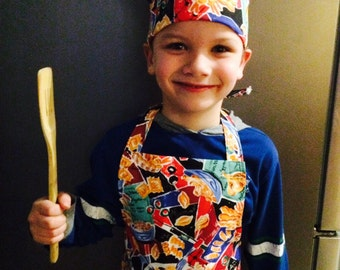 Childs Chef Apron with matching hat.   (260)