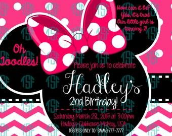 Minnie Mouse Printable Birthday Invite