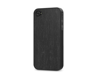 iPhone 4 / 4s #WoodBack Real Wood Case - Blackened Ash (FREE and Fast Delivery)
