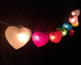 20 x Mix Heart paper string light for decor ,bedroom, wedding, party, garden,lamp,lantern