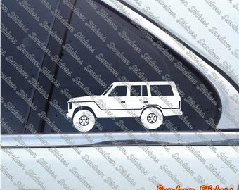2X Lifted 4x4 outline stickers - for Toyota Land Cruiser J60 FJ60 classic
