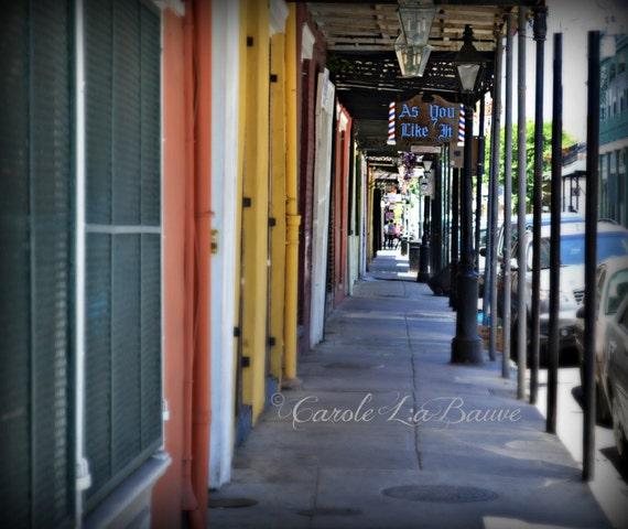 NEW ORLEANS PHOTOGRPAHY ~ Barber Shop Sign ~ French Quarter Streetscape ~ Cajun Decor ~ Louisiana Fine Art ~ Shutters