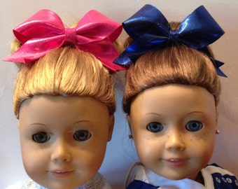 """Sparkle Cheer Bow for 18"""" Doll Cheer Bow for American Girl Doll"""