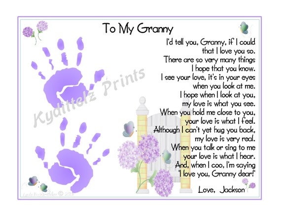 hanprint art for valentine's day - Grandma BABY S 1st Handprints Poem Gift Personalized