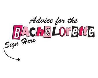 Advice for the bachelorette cute shirt