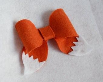 Fox Kitsune Hair Bow Clip Cute Animal
