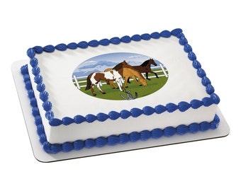 Horses Edible Image