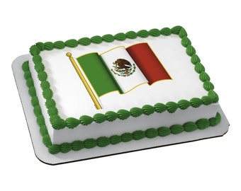 Edible Image Mexican Flag
