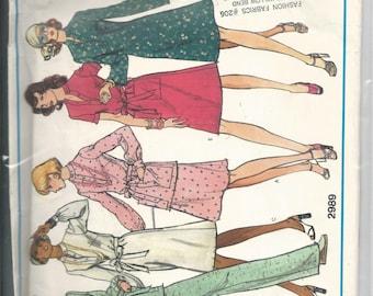 Vogue Basic Design 2989 Misses Dress, Tunic, Skirt and Pants Size 12 Uncut