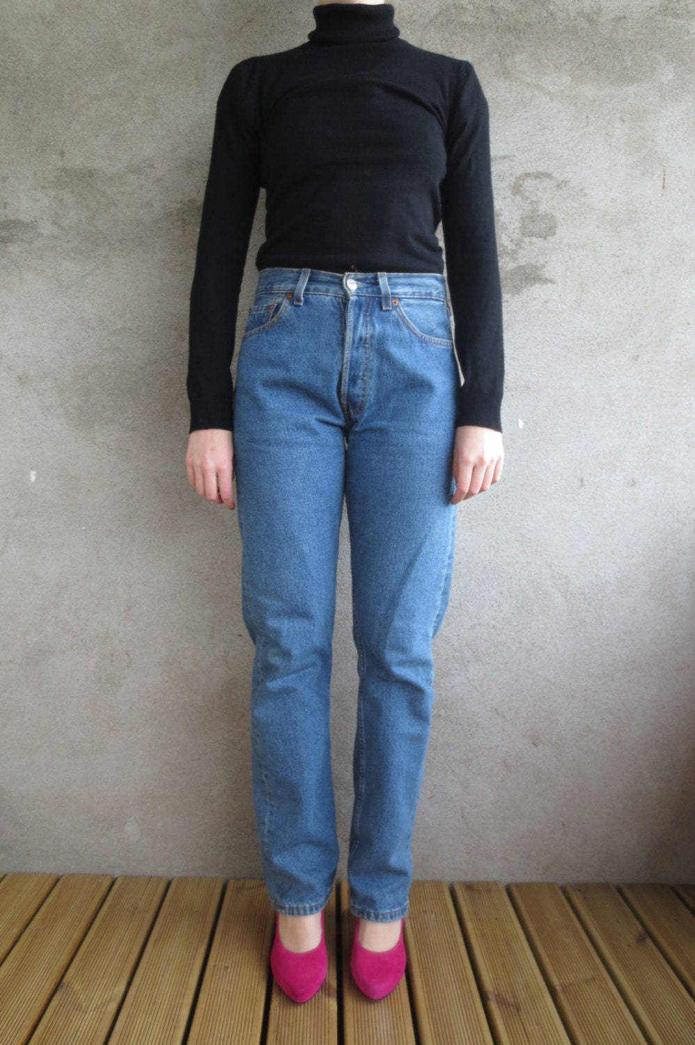 hoch taillierte levi strauss jeans 80er jahre vintage 80er. Black Bedroom Furniture Sets. Home Design Ideas