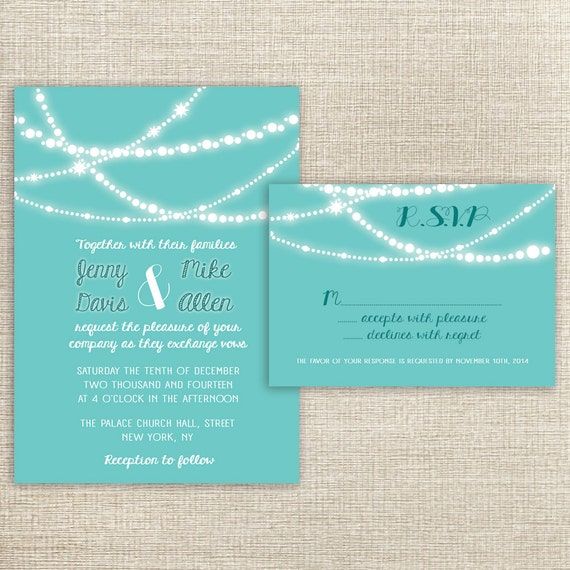 wedding invitations packages items similar to wedding invitations amp rsvp card package 9763