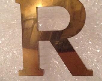 Brass letter R
