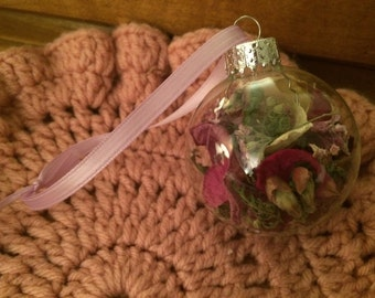 Dried Flower Petal Ornament