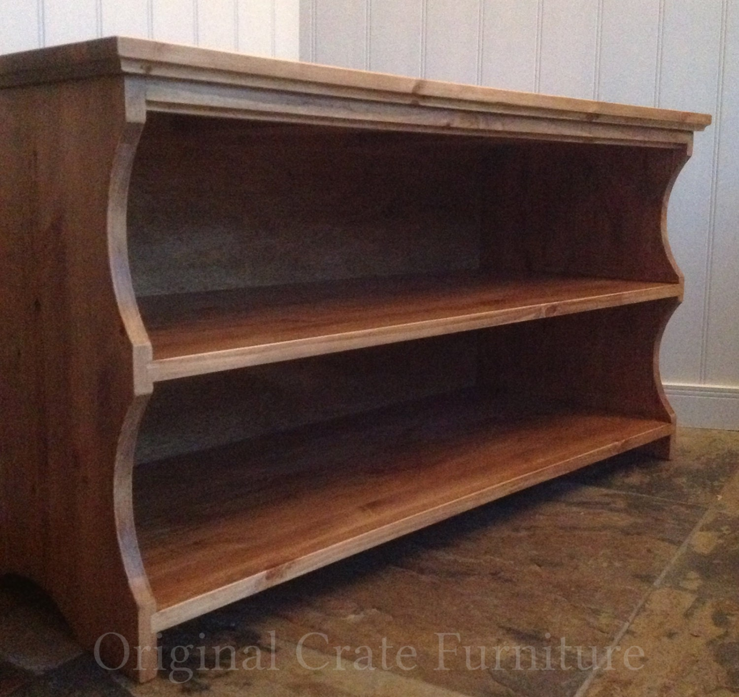 Hall Shoe Storage Shelf Bench In Antique Pine By Originalcrate