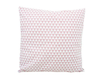 Pillowcase/cushion pink triangles
