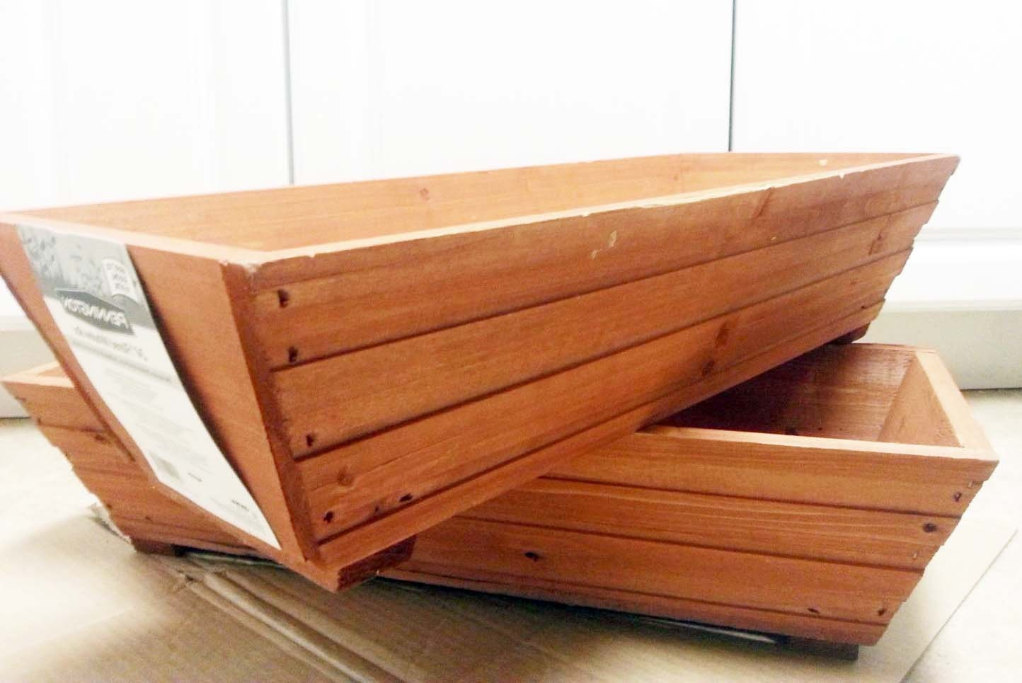 Mwb 24 Cedar Wood Rectangle Planter Box By