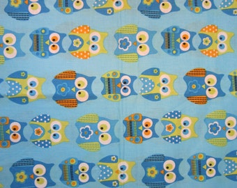 Baby Crib Sheet or Toddler Bed Sheet with Owls