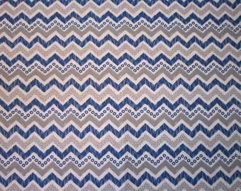 Baby Crib Sheet  or Toddler Bed Sheet - Chevron Pattern