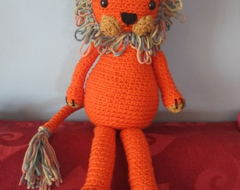 Marios the lion crocheted amigurumi soft toy