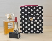 Wallet Babà (Cute polka dots cotton wallet with many slots inside for your cards, coins and notes)