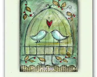 Chirp Chirp Art Card-Blank Inside