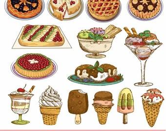 Mexican cuisine food Mexican restaurant clip art set