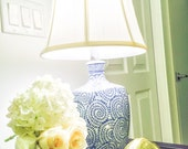 Romantic Porcelain Blue and White Lamp!