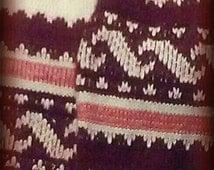 Vintage Tribal Infinity scarf, Rabbit Hair scarf,Spring infinity scarf,infinity scarf,BoHo scarf,vintage knit neck warmer,spring summer sale