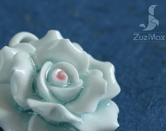 Handmade Porcelain Flower, Fine China Flower, Ceramic Flower, Necklace / Bracelet Pendant (PF-0019)