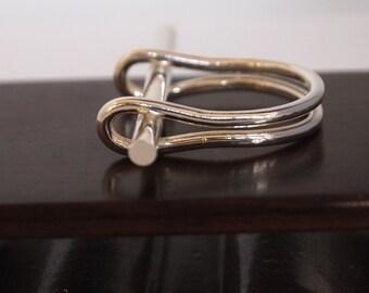 Modern Handmade Geometric Sterling Silver Ring