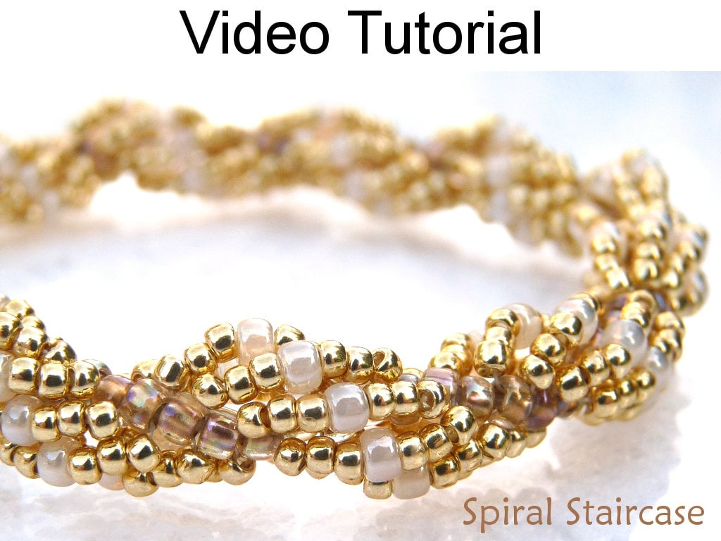 Jewelry making tutorial pattern video spiral stitch seed beads for Natural seeds for jewelry making