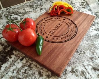 Personalized Cutting Board 10x15 Mahogany - Jenson Style