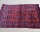 Size:6.11 ft by 4.2 ft Handmade Rug Afghan Baluch Tribal Vintage Yacub Khani Carpet
