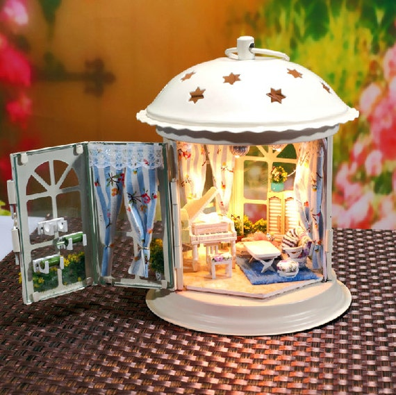 DIY Lantern Dollhouse Miniature Handcraft Kit Gifts by UniTime