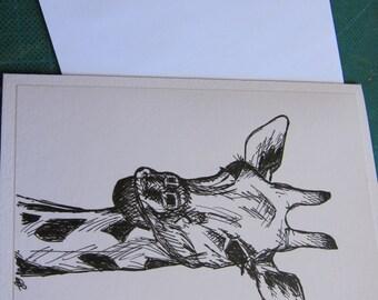 Original pen drawing artwork greeting card