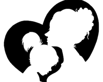 Nursery art for babies developing s ight mother daughter heart