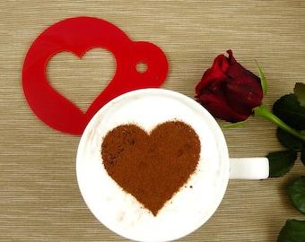 Heart - coffee stencil, cake stencil, cupcake stencil