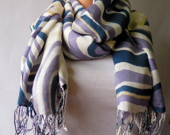 Blue  Indian scarves woman scarf. Multicolor scarf. fashion scarf  Women scarf winter scarf