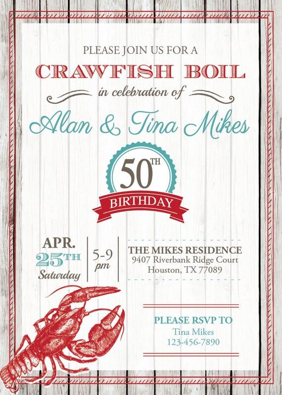 Crawfish Boil Invitation with amazing invitations layout