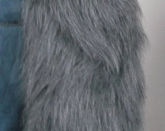 Fluffy faux fur wolf tail in various colours -MADE TO ORDER-