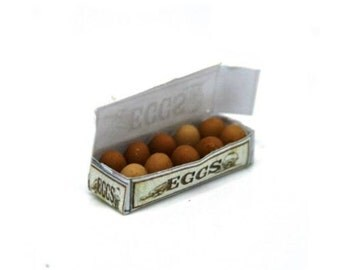 Box Of Eggs Dolls House Miniature