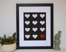 love in different languages engagement gift unique home decor black and white