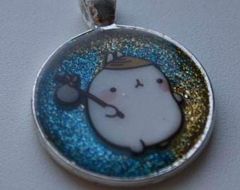 Molang resin necklace