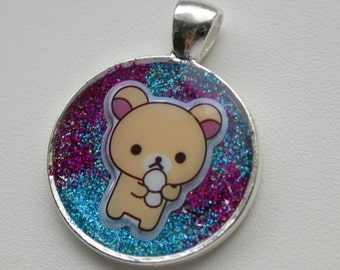 Korilakkuma resin necklace